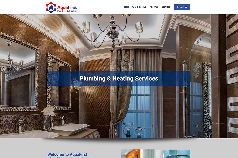 Diseño de Pagina Web para Servicios de Plomeria AquaFirst
