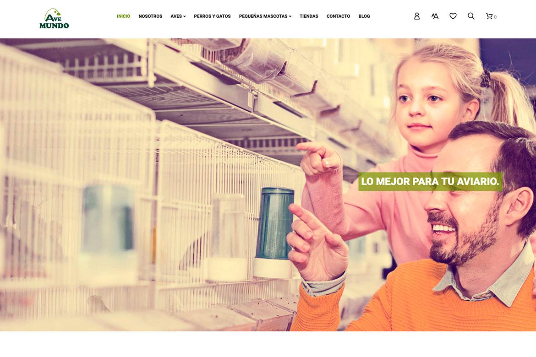 Diseño de tienda virtual para Avemundo