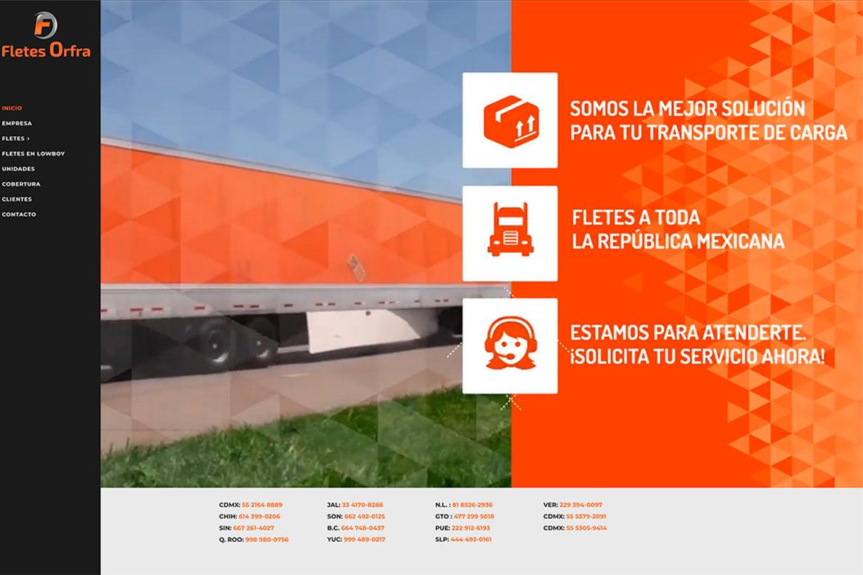 Diseño de sitio web profesional para Fletes en Mexico