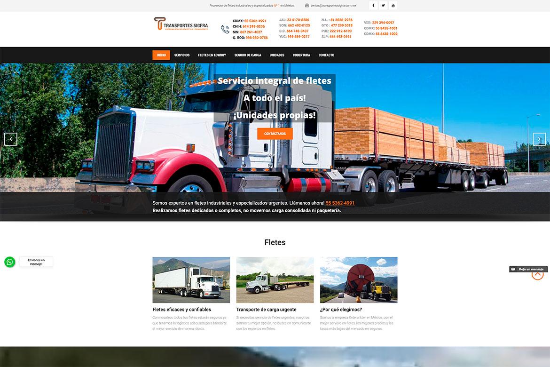 Diseño de Pagina Web Fletes de Mexico